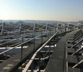 都内陸上競技場ソーラーシステム設置用計測